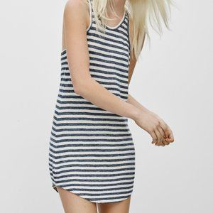 COMMUNITY Aritzia Pythagoras Striped Linen Dress